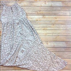 Cynthia Rowley Snakeskin maxi dress